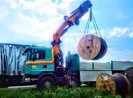 PIPAL-Transporte: Kran-Arbeiten • Kabelrollen verladen