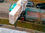 PIPAL-Transporte: Unser Kran im Einsatz - 3 • Bruck an der Leitha, Niederösterreich