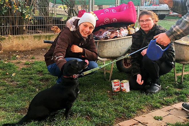 Wanda-mit-Gabriele-Pipal-von-PIPAL-Transporte-und-Dr-Claudia-Herka-vom-Tierheim-Parndorf